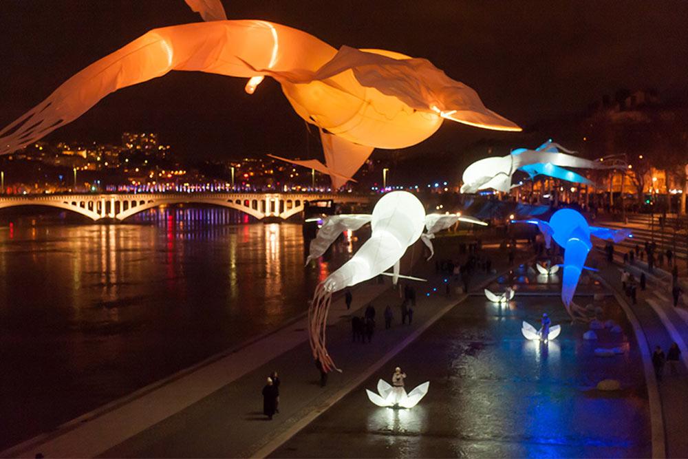 Bal des Luminéoles - Spectacle so et lumières avec des cerfs volants