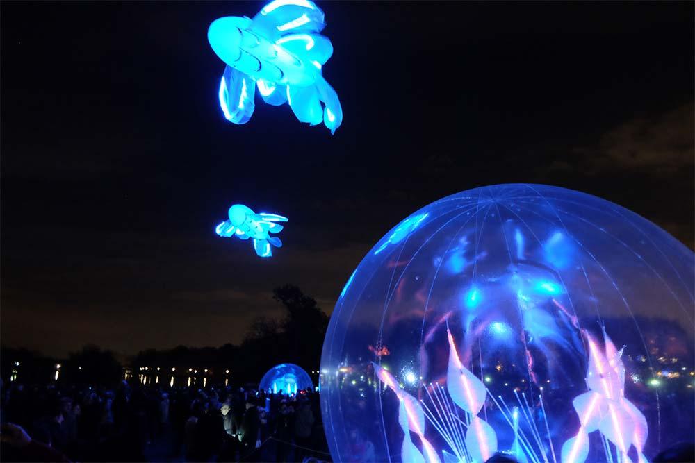 Sphères et Carpes - Jardin d'Hiver à Lyon