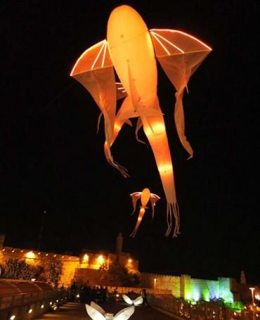 Les luminéoles à Jérusalem