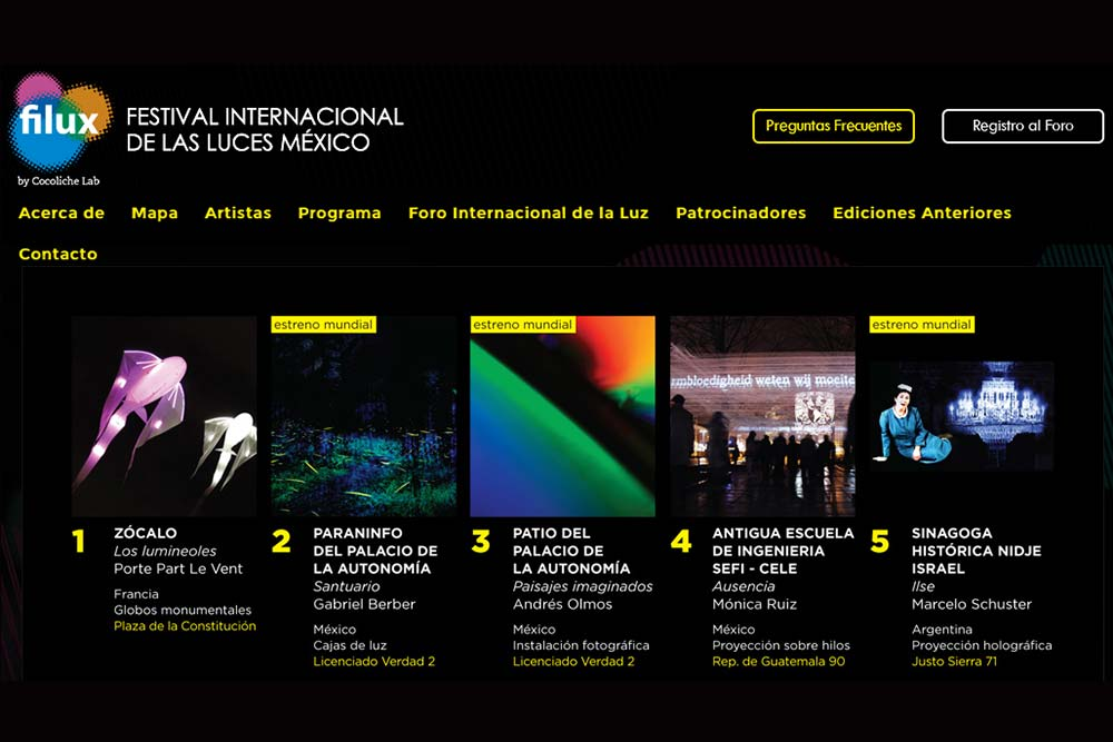 Les luminéoles au Festival des Lumières de Mexico
