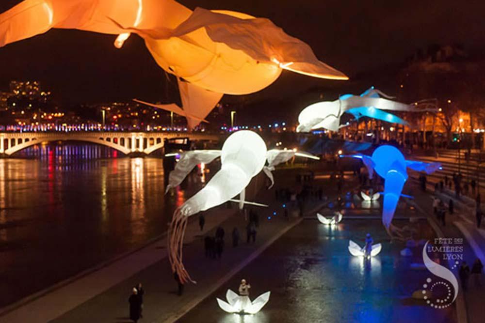 Fête des Lumières à Lyon en 2012